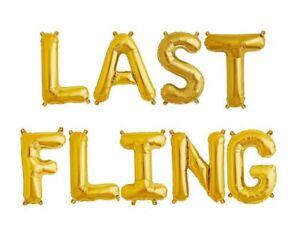 image is loading last fling letter balloons bachelorette 16 034 gold