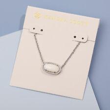 NEW Authentic KENDRA SCOTT Elisa 213 Silver Necklace Slate Cats Eye Pendant