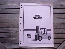 Hyster Forklifts Materials Frame Service Repair Manual H350 500xl H70 110xl