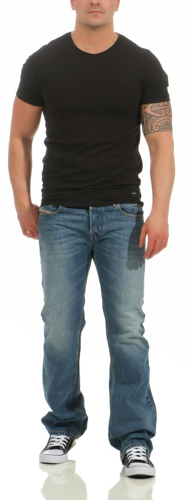 Diesel Jeans Jeans Jeans Zatiny 0800Z 800Z Herren Hose Regular Stiefel Cut Stiefelcut L32 NEU b647ad