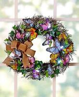Lighted Spring Butterfly Wreath: Welcome Spring/easter With This Seasonal Decor