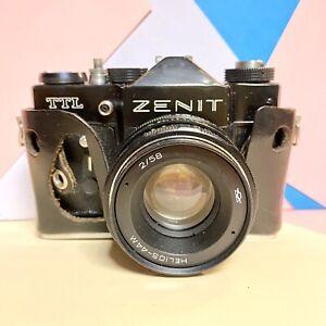 Zenit-TTL-35mm-SLR-Film-Kamera-mit-Helios-f-2-58mm-Objektiv-Retro-Lomo-Studenten