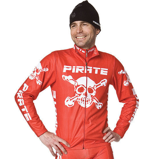 Pirate Trikot Langarm red, Pirat, Skull, Totenkopf