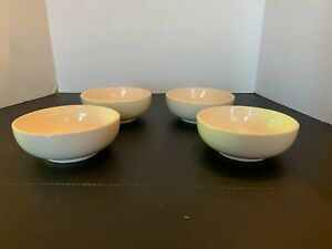 Vintage McCoy Pottery White Cereal Bowl Set of 4 A
