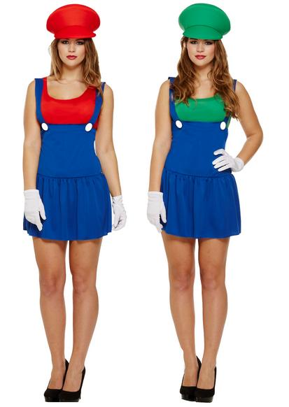 Paar Damen Mario und Luigi Luigi Luigi 1980s Jahre Halloween Kostüm Kleid Outfit 8-12 | Kostengünstiger  8aa7c8