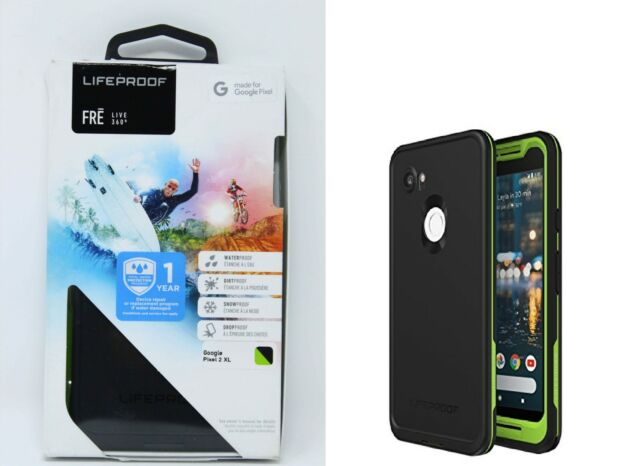 reputable site 19dec 5f7fe LifeProof Fre Waterproof Case for Google Pixel 2 XL Black/lime