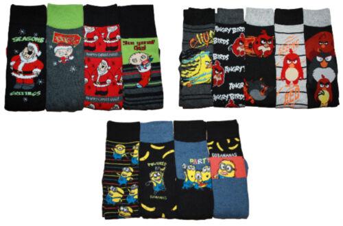 Men/'S Set di caratteri Sock Family Guy Natale Angry Birds sgherri £ 6.99 ciascuno