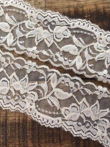 """laverslace Beautiful Beige Skintone Stretch Lace Trim 2.5/""""//6cm Sewing Crafts"""