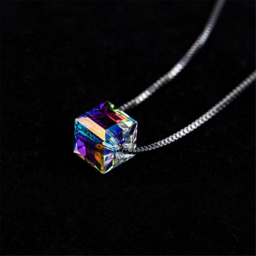 Charming  Women Magic Cube Crystal Chain Necklace Pendant Gift Fine Jewelry  ed