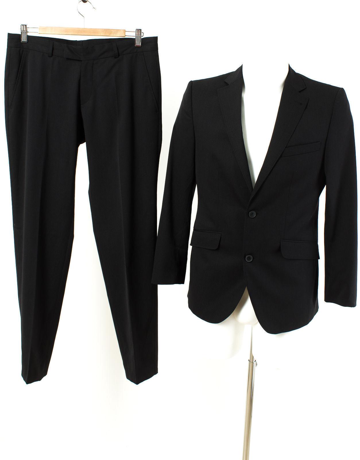 CG MIX UP Anzug Gr. XXS-XS / 44-46 Wolle Sakko Hose Geschäft Suit
