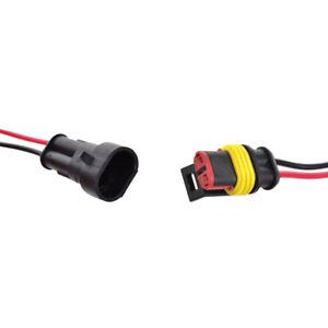 2 polig kabel steckverbinder stecker wasserdicht schnellverbinder kfz lkw wys ebay. Black Bedroom Furniture Sets. Home Design Ideas