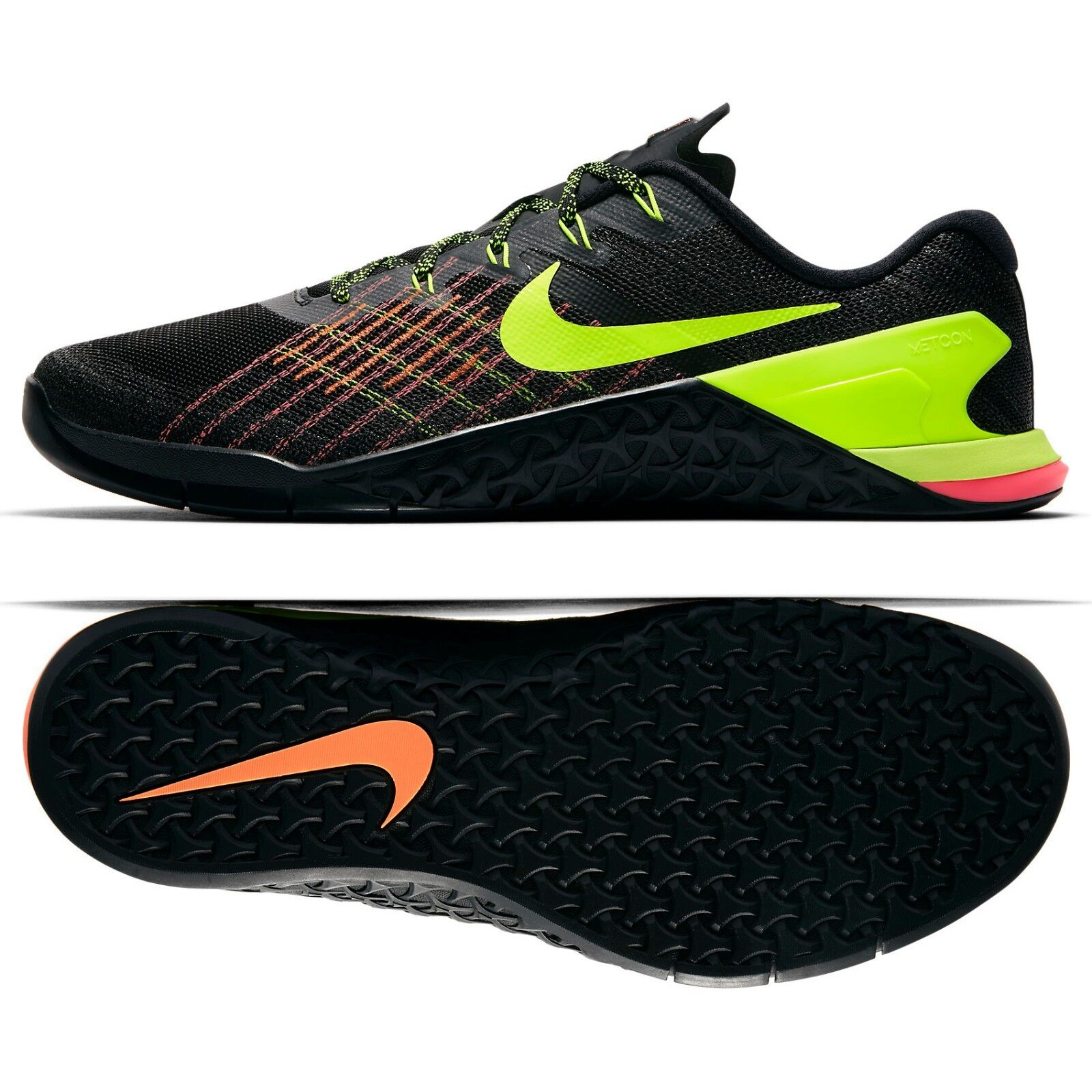 Nike Metcon 3 Black/Hyper Crimson/Hot Punch/Volt 852928-012 Men's Training Shoes