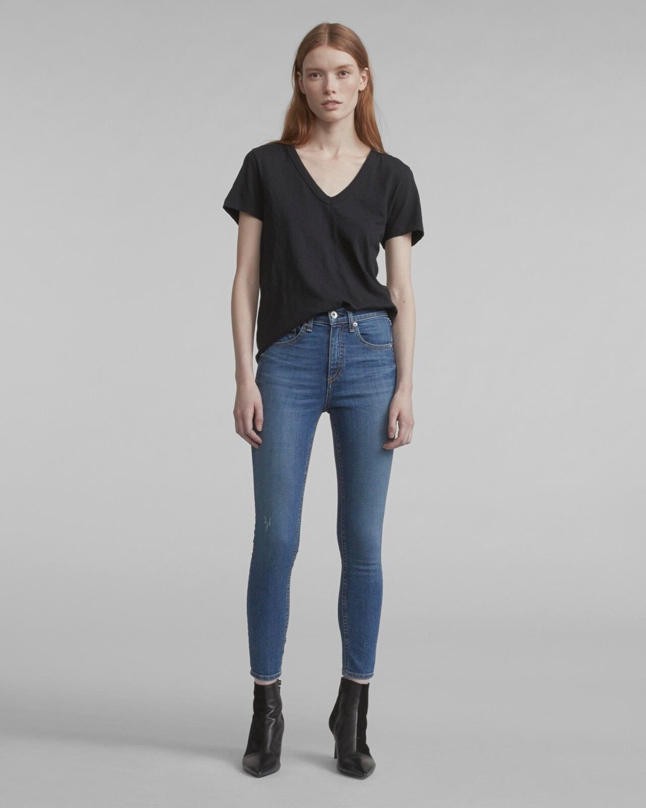 Rag & Bone Rag and Bone HIGH RISE ANKLE SKINNY EL Size 25 NWT
