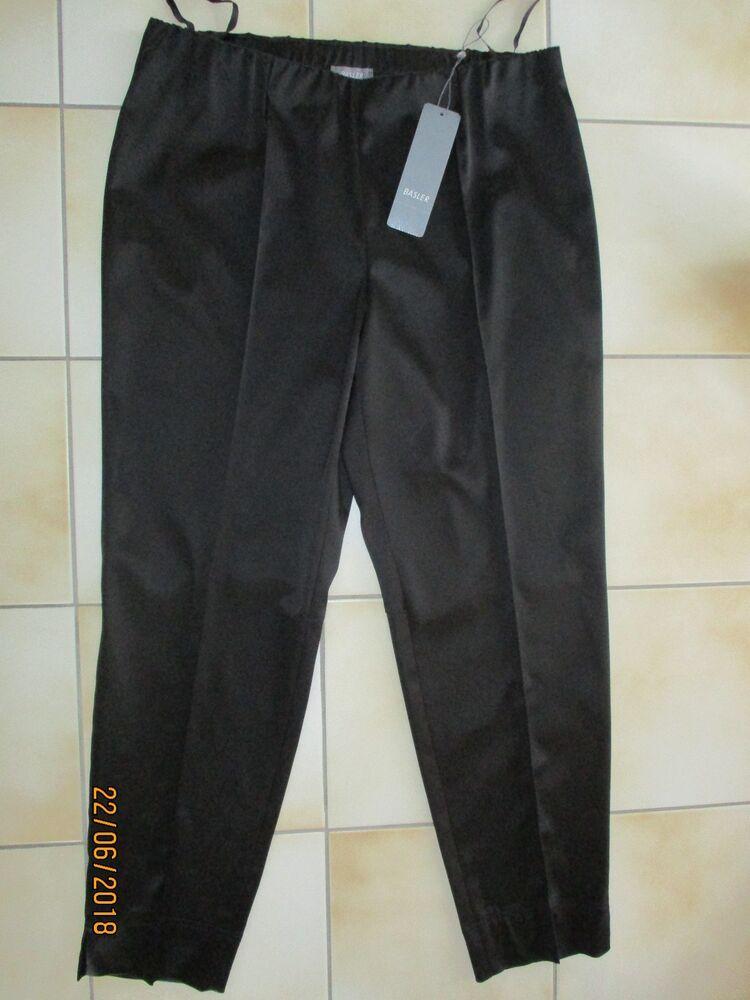 Basler Pantalon Main Noir (légèrement Extensible U. Brillant) Neu/50 Handelsp. A 129,95 €-0 Handelsp. War 129,95€ Fr-frafficher Le Titre D'origine