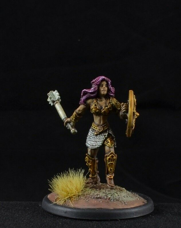 Painted Karina of the Blade from Reaper Miniatures, female warrior viking D&D