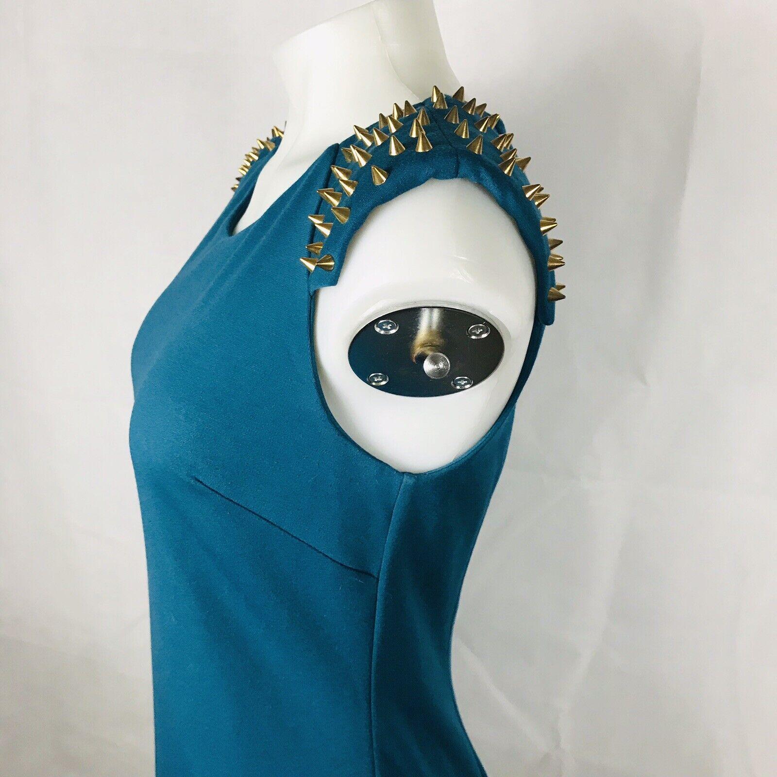 Betsey Johnson Woman's Dress Beads Gold Aqua Blau  Sz 6  ONE of the KIND
