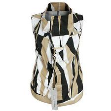 RICK OWENS DRKSHDW tribal camo Exploder vest sleeveless cowl neck jacket S NEW