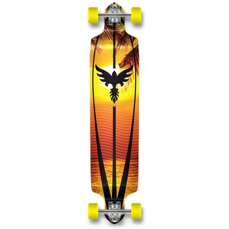 Yocaher Drop Down Sunset Longboard Complete