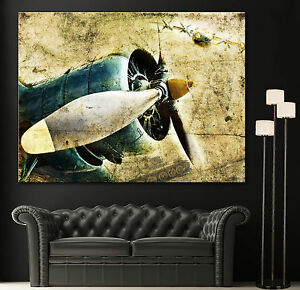 Home Wall Art Propeller Airplane Engine Canvas Print