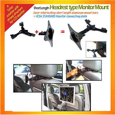 Simple lift-off type short length Headrest Mount for monitor mount VESA Plate