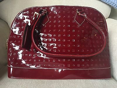 Arcadia Handbag Preowned Dark Red Patent Leather