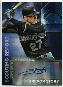 2016 Topps Update Trevor Story Rookie Scouting Report Auto Rockies RC #SRA-TS