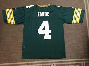 uk availability a64a5 2513e Details about Vintage Starter USA NFL FOOTBALL Brett Favre Jersey Green Bay  Packers 48 L
