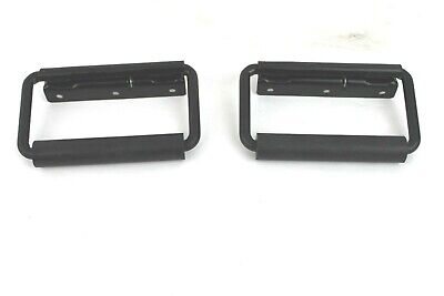 NEW 2 Surface Mount Spring Loaded Handle Padded Roadie Speaker Box Trunk Chest