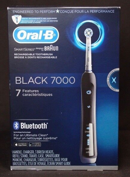 Oral-B Pro 7000 Black SmartSeries Electric Toothbrush With Bluetooth for  sale online  ea768b6f36b09