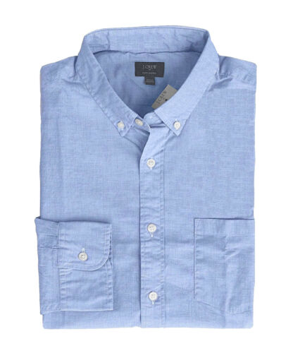 Blue End-to-End Washed Cotton Shirt Regular Fit J.Crew Factory Men/'s L