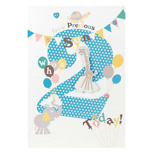 For a precious son whos 2 today gorgeous 2nd happy birthday image is loading for a precious son who 039 s 2 bookmarktalkfo Gallery