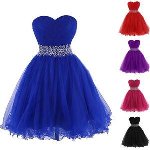 pretty nice dbdbd 66060 Details zu Neu Kurze Formale Ball kleider Perlen Abendkleider Homecoming  Kleider Gr:32-50