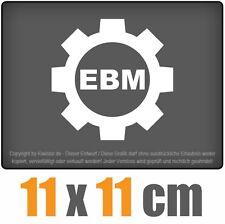 Ebm Zahnrad 11 x 11 cm JDM Decal Sticker Auto Car Weiß Scheibenaufkleber