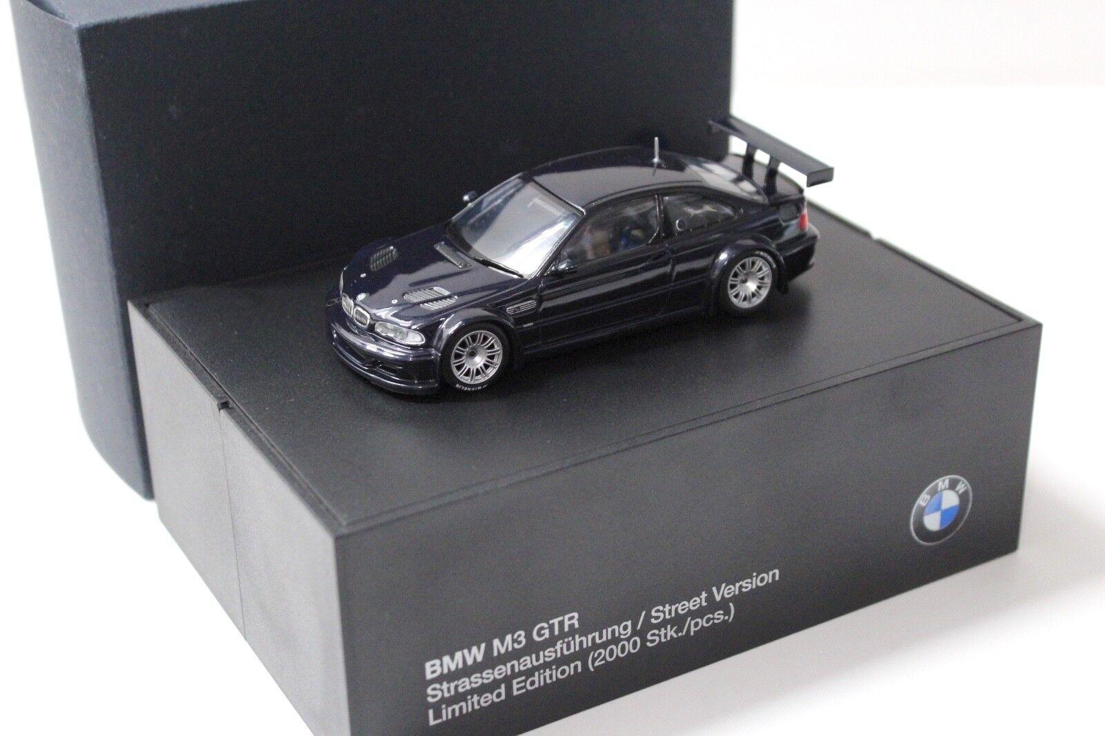 1 43 Minichamps bmw m3 GTR e46 Street negro dealer New en Premium-modelcars