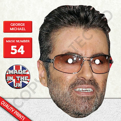 George Michael Celebrity Singer Card Mask Fun Stag/&Hen Parties
