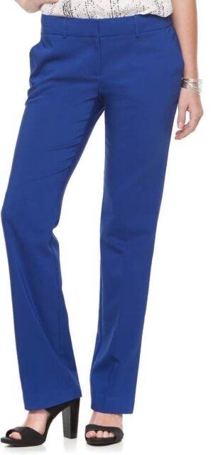 54bbc0a588e Women s Apt. 9 Torie Midrise Modern Fit Straight-Leg Dress Pants Blue Size