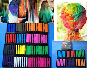Hair-Colouring-Temporary-Hair-Chalk-Non-Toxic-Packs-of6-12-24-36-12mix-Colours