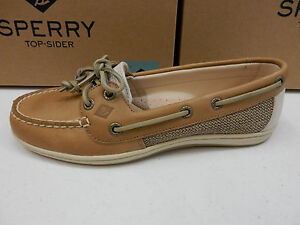 SPERRY TOP SIDER WOMENS BOAT SHOES FIREFISH LINEN OAT SIZE 10