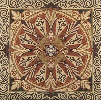 """20"""" DECORATIVE TAPESTRY PILLOW / CUSHION COVER Brown Ornament MEDIEVAL ACCENT"""