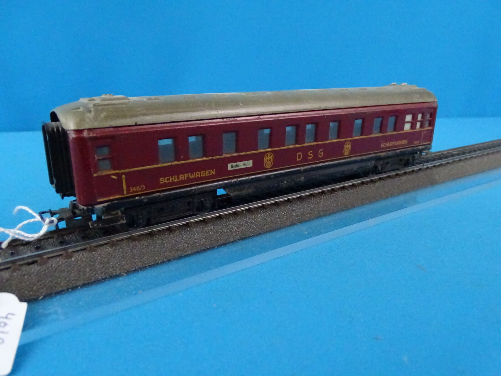 Marklin 346/3 4010 Sleeping car rosso vers. 6 in rosso 50-ies OVP