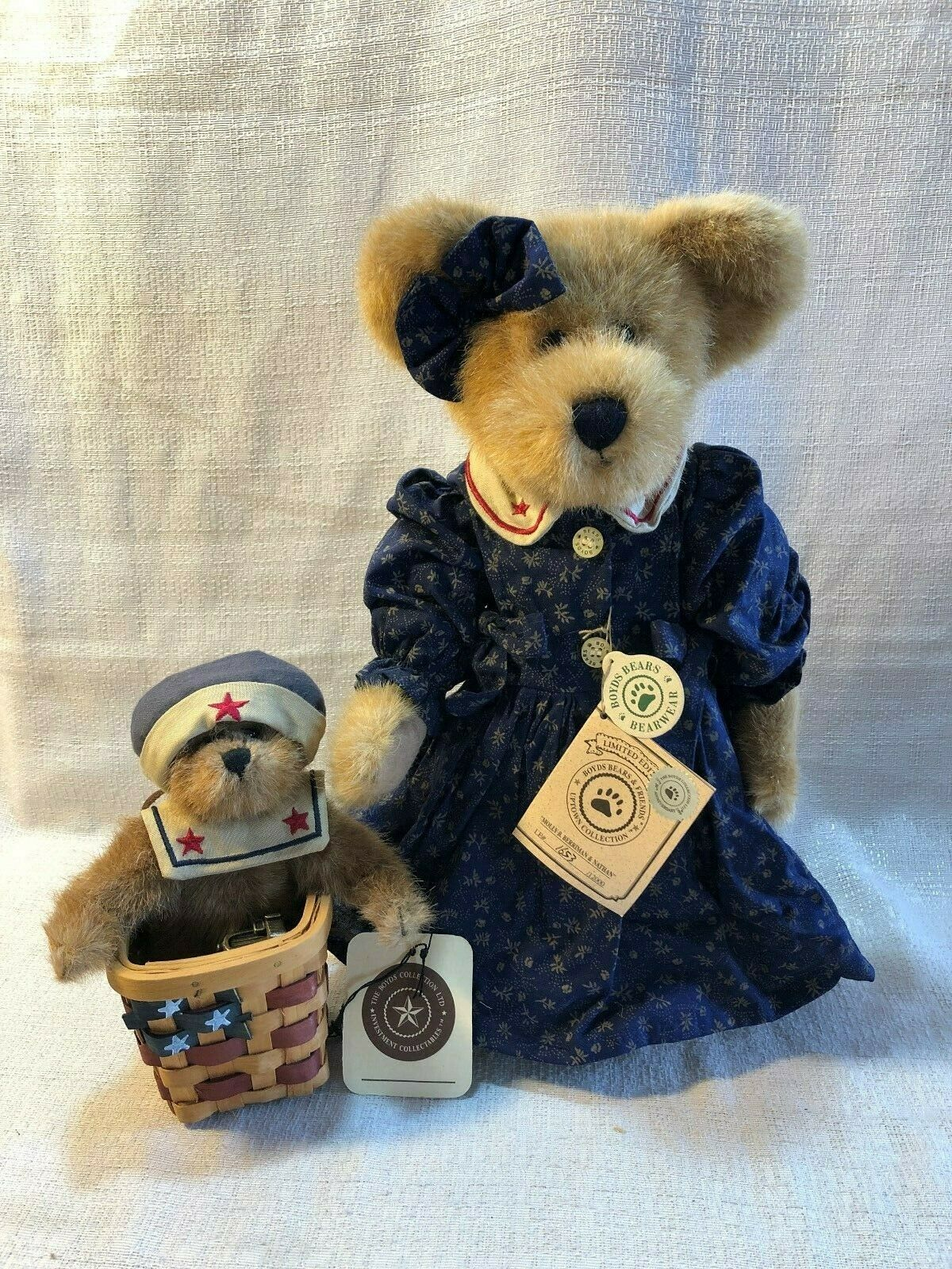 Boyds Bear The Uptown Collection Mohair Bear Molly B. Berriman Nathan 900253