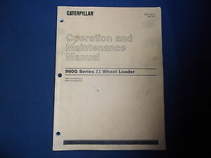 cat 980g operations manual
