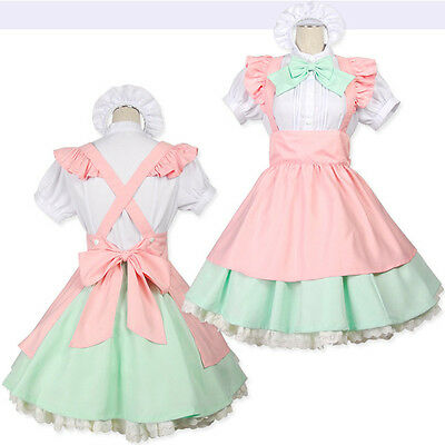 Japanese Maid Uniform Costume & Lolita Bow Dress for Halloween/Cosplay Party 250