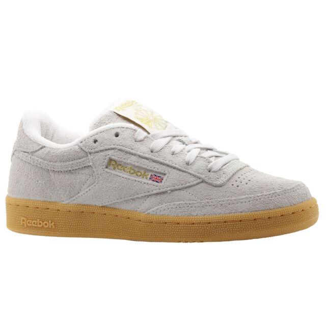 suurin alennus erilaisia värejä näyttää hyvältä kengät myynti REEBOK CLASSIC MEN'S CLUB C 85 TS TRAINERS SHOES BEIGE SUEDE RETRO VINTAGE  NEW