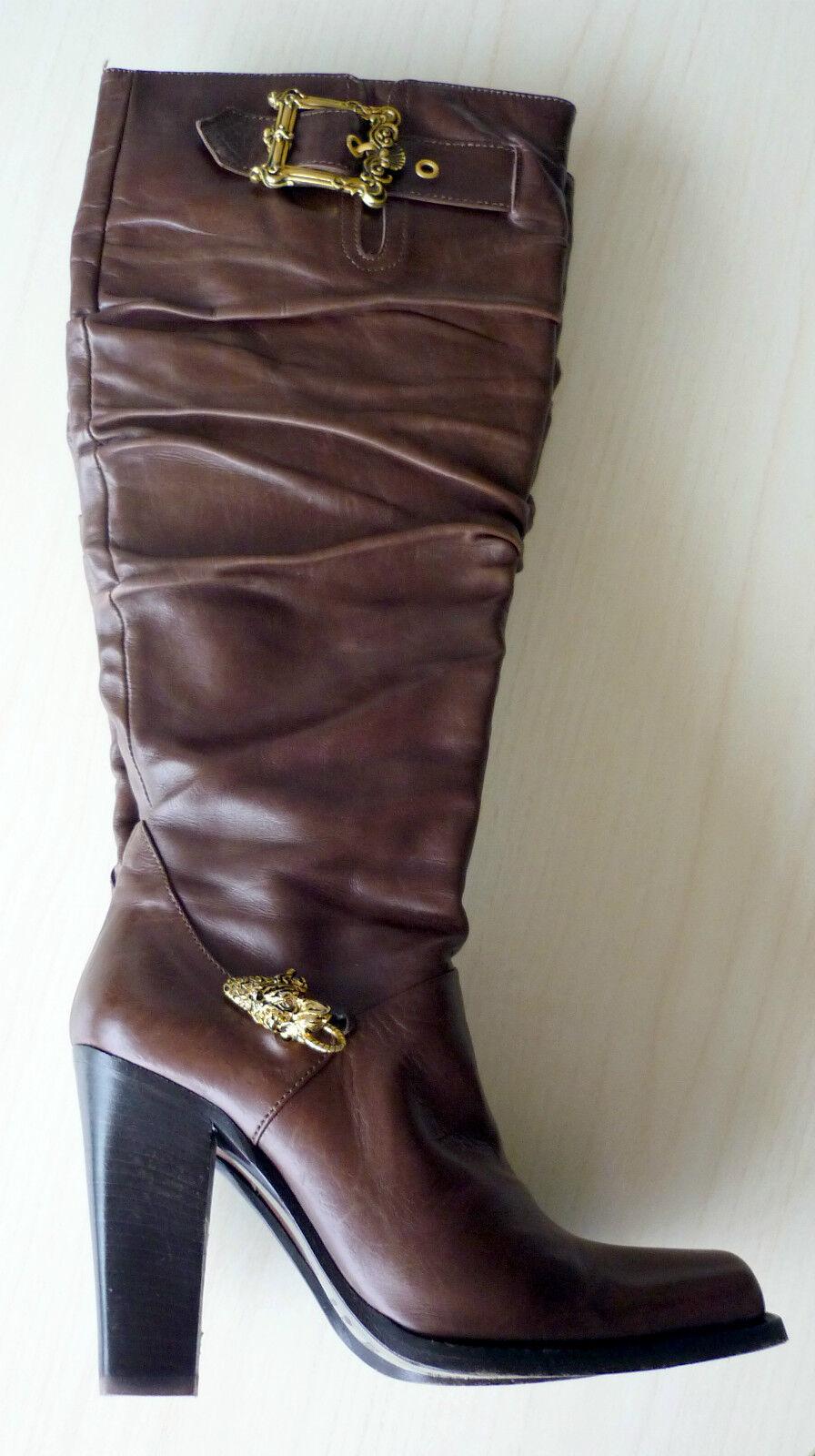 Bottes Boots Talons 35 Hauts Cuir Marron 35 Talons LE SILLA cb5916