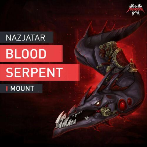 Blutschlange von Nazjatar Reittier Nazjatar Blood Serpent Boosting WoW Raid EU