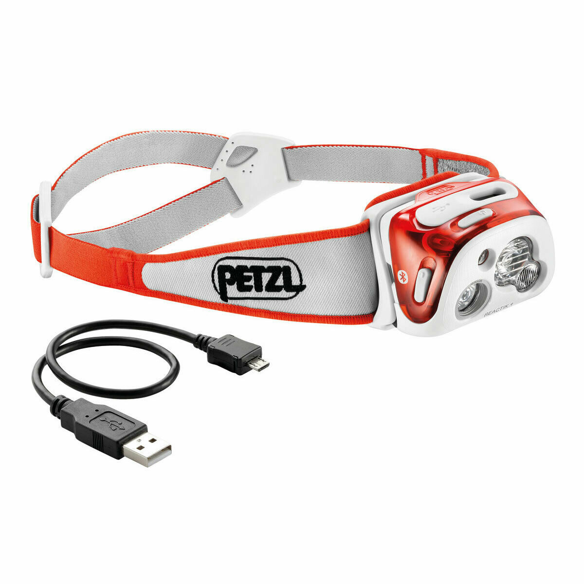 PETZL E95 REACTIK  Plus 300 luuomini Reactive Lighting blutooth Coral NO scatola