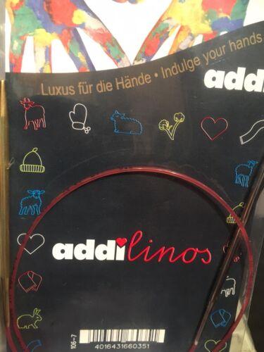 60cm X 3.5mm Addi Linos-Agujas Circulares Para Niños Tamaño Manos//pequeños proyectos