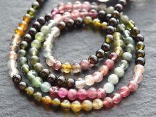 "3mm TOURMALINE ROUNDS, 14"" strand, 115 beads"