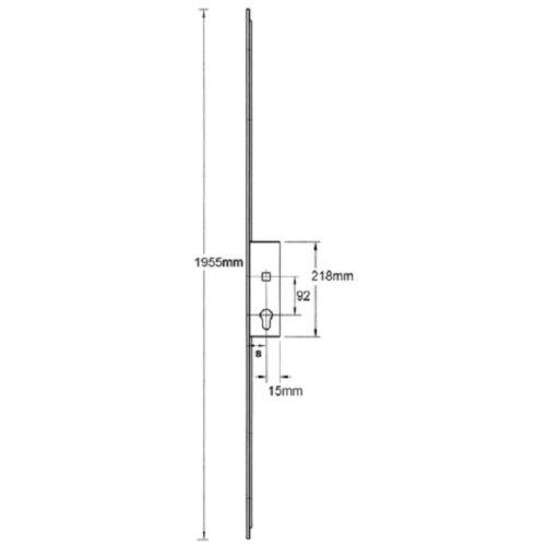 Avocet 35mm Upvc Patio French Slave Leaf Door Lock Multipoint Shootbolt Options
